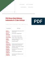 954 Kosa Kata Bahasa Indonesia a-Z Dan Artinya - KOSAKATA INDONESIA