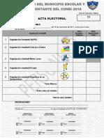 Acta Electoral Escrutinio 1