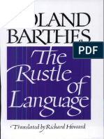 Roland Barthes the Rustle of Language