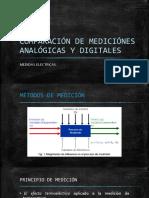 Comparación de Mediciónes Analógicas y Digitales