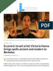 jWeekly 2017 | Video artist Victoria Hanna brings spells ancient and modern to Berkeley