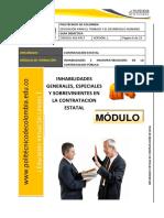 Guia Didactica (4) - Inhabilidades Generales, Especiales y Sobrevinientes en La Contratación