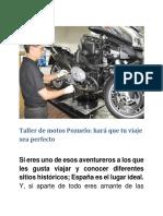 Taller de Motos Pozuelo Para PDF