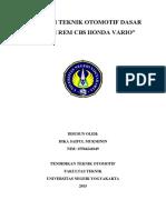 makalah sistem rem cbs vario