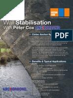 Wall Stabilisation Cintec Anchor System