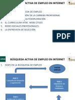 Curso Tecnicas Insercion Busqueda Empleo Internet Eladio Bodas