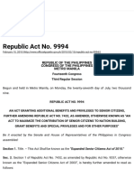 Republic Act No. 9994