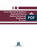 Censo Nacional de Gobierno, Seguridad Pública y Sistema Penitenciario Estatales 2016