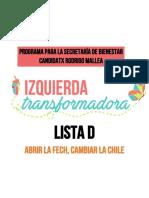 Programa Bienestar FECh 2017-18 -  Rodrigo Mallea Cardemil