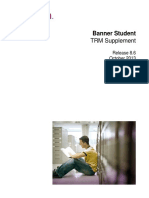 Banner Student Technical Reference Manual Supplement 8.6