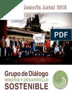 Grupo de Dialogo, Mineria y Desarrollo Sostenible (2016) Memoria GDMDS 2015