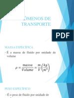 Fenômenos de Transporte - Aula 2 PDF