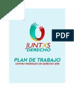 """Plan de Trabajo """"Juntxs Derecho"""""""