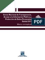 Marco Conceptual Censo Nacional de Transparencia, Acceso a La Información Pública y Protección de Datos Personales Estatal 2017