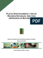 2002. IAvH. Plan de Aprovechamiento y Uso de Recursos Naturales. Guia Para Empresarios de Biocomercio
