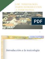 Primera presentación de Toxicologia Generalidades