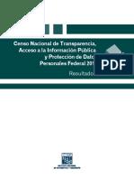 Censo Nacional de Transparencia, Acceso a La Información Pública y Protección de Datos Personales Federal 2016