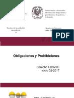 Obligaciones y Prohiciones