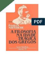 A Filosofia Na Idade Trágica Dos Gregos - Friedrich Nietzsche