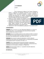 Resolución N° 5 2017-2/ JF-DERECHO