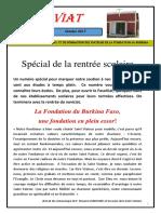 FASOVIAT 20 - Spéciale de La Rentrée Scolaire Au Burkina Faso