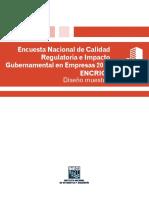 Encuesta Nacional de Calidad Regulatoria e Impacto Gubernamental de Empresas 2016. ENCRIGE
