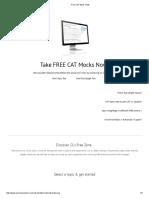 Free CAT Mock Tests_basics