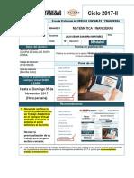 Matematicas Financieras i - 2017-2