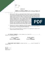 Affidavit Cardino