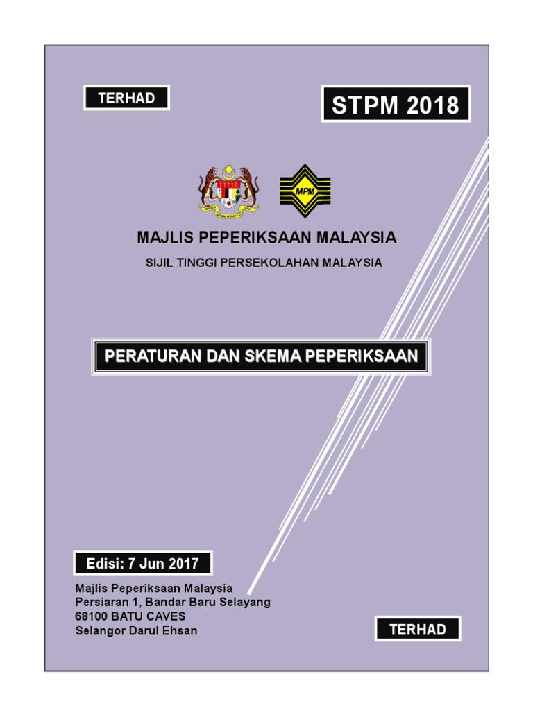 Semak Dan Skema Peperiksaan Stpm 2018 07062017