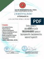 Certificado Seminario Sismologia Para Ingenieros 2016