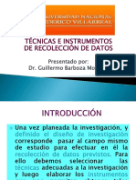 Investigación - Tecnicas e Instrumentos