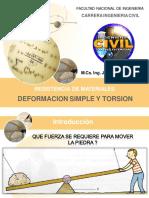 Deformacion Simple y Torsion