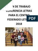 Plan de trabajo Coherencia Universitaria Letras