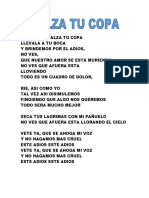 Alza Tu Copa Letra