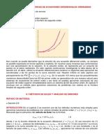 Secc 9.1, Metodos de Euler y Analisis de Errores