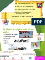 Tutorial de páginas webs para aprender el inglés