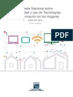 Encuesta Nacional Sobre Disponibilidad y Uso de Tecnologías de La Información en Los Hogares 2016. ENDUTIH. Diseño Muestral