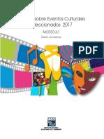 Módulo Sobre Eventos Culturales Seleccionados 2017. MODECULT. Diseño Conceptual