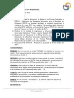 Resolución N° 3 2017-2 JF - Arquitectura