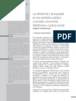 La Eficiencia y La Equidad en Los Sectores Público y Privado Economía Distributiva y Justicia Socia