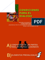 Condiciones Para El Dialogo