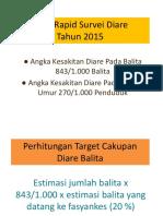Perhitungan Target Cakupan Diare