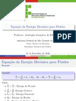 Aula7 - Equacao Da Energia Mecanica - Maquinas