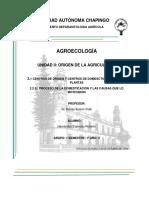 CENTROS DE ORIGEN Y CENTROS DE DOMESCTICACIÓN DE LAS PLANTAS