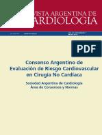 Consenso Argentino de Evaluacion de Riesgo Cardiovascular en Cirugia No Cardiaca 1