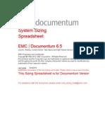 Document Um 6.5 System Sizing