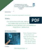 Una Investigación Del Impacto de Los Factores Eficaces en El Éxito Del Comercio Electrónico en Las Empresas Pequeñas y Medianas (1)