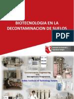 Biotecnologia en La Decontaminacion de Suelos