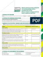 SJA First Aid Club Lesson Plan Primary Resource